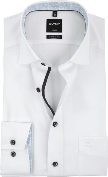 OLYMP Shirt LuxorMF White Dessin