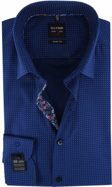 OLYMP Shirt Lvl 5 Dots Navy SL7