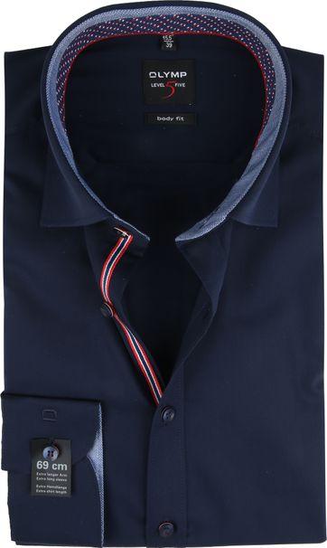 OLYMP Shirt Lvl 5 LS7 Navy