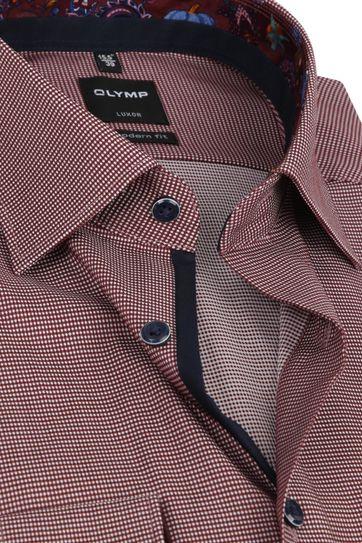 OLYMP Shirt MF Luxor Design Dark Red