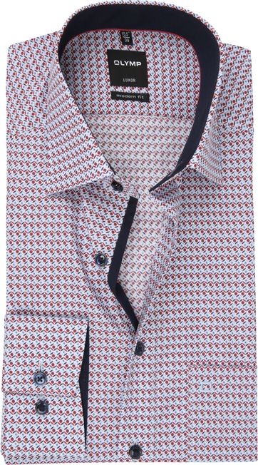 OLYMP Shirt MF Luxor Dessin Red