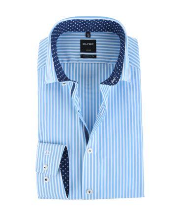Olymp Shirt Modern Fit Blauw Streep