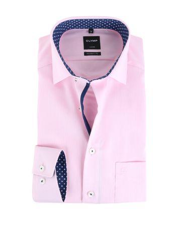 Olymp Shirt Modern Fit Roze Dessin