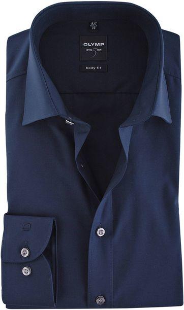 Olymp Shirt Navy Body-Fit
