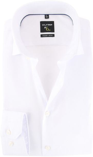 OLYMP Shirt No\'6 Wit Super Slim