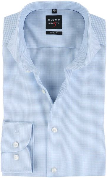 Olymp Shirt Non Iron Blue Dessin Body Fit