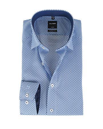 OLYMP Shirt Print Blauw