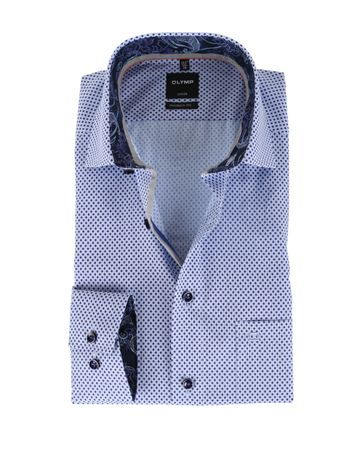 OLYMP Shirt Print Paars