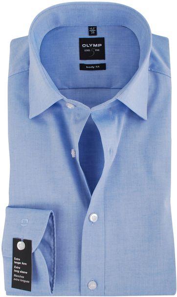 Olymp Shirt SL7 Blauw Body Fit