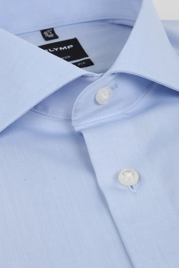 Olymp Shirt Sl7 Modern Fit Blue Double Cuff