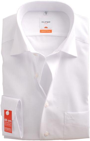 Olymp SL7 Overhemd Wit