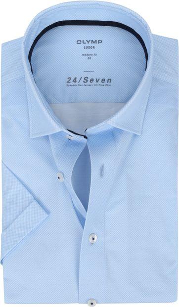OLYMP SS Shirt Luxor 24/Seven MF Blue