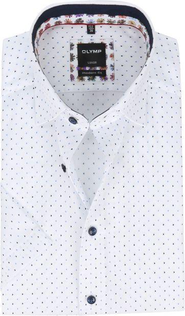 OLYMP SS Shirt Luxor MF Dessin White