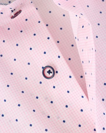 Detail Olymp Strijkvrij Luxor Overhemd Roze