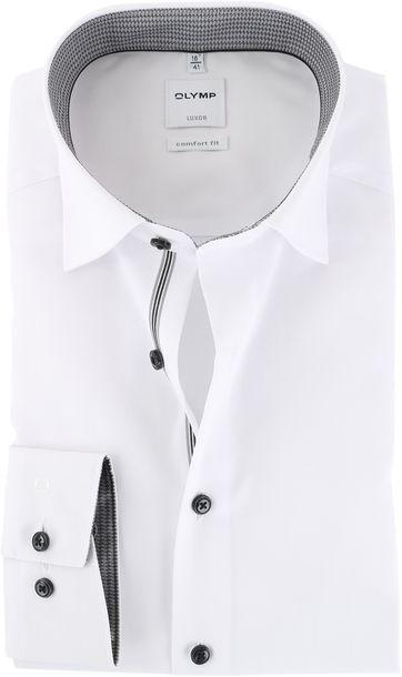 Olymp Strijkvrij Luxor Overhemd Wit