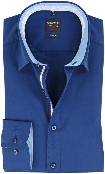 Overhemd Donkerblauw.Olymp Strijkvrij Overhemd Donkerblauw Body Fit 054764 Online