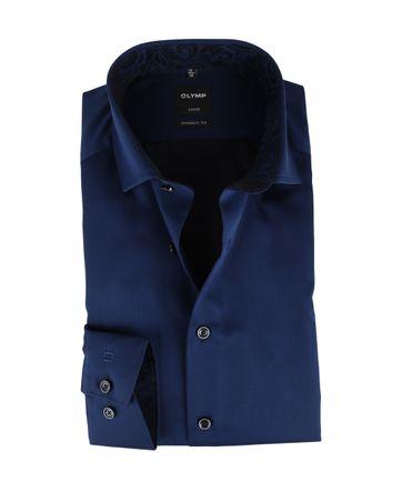 OLYMP Strijkvrij Overhemd Donkerblauw Modern Fit