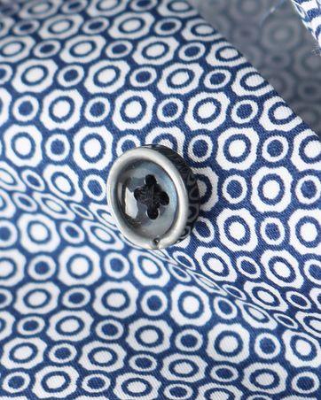 Detail OLYMP Strijkvrij Overhemd Donkerblauw Print