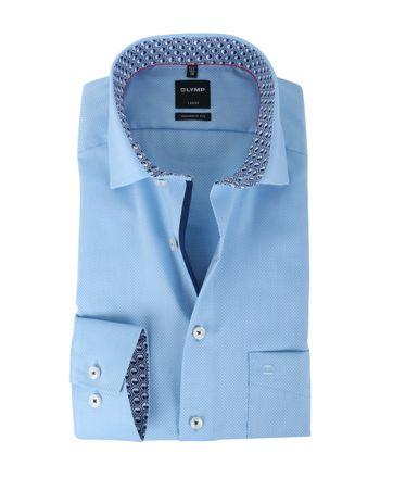 Olymp Strijkvrij Overhemd Modern Fit Blauw