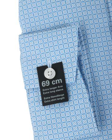 Detail Olymp Strijkvrij Overhemd Modern Fit Blauw Print SL7