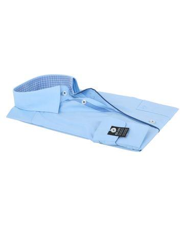 Detail Olymp Strijkvrij Overhemd Modern Fit Blauw SL7