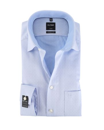 OLYMP Strijkvrij Overhemd Modern Fit Blauw Sleeve7