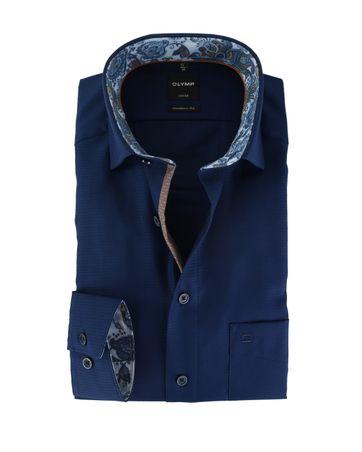 OLYMP Strijkvrij Overhemd Modern Fit Donkerblauw
