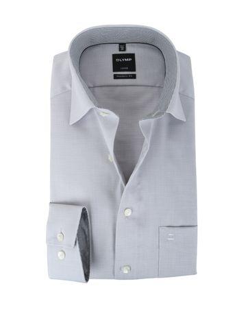 Olymp Strijkvrij Overhemd Modern Fit Grijs