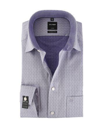 OLYMP Strijkvrij Overhemd Modern Fit Lila Sleeve7