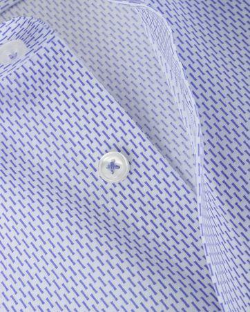 Detail Olymp Strijkvrij Overhemd Modern Fit Lila Streep