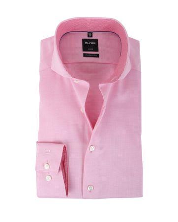 Olymp Strijkvrij Overhemd Modern Fit Roze