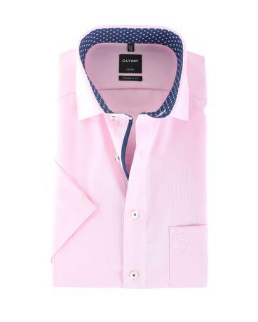 Olymp Strijkvrij Overhemd Modern Fit Roze Dessin