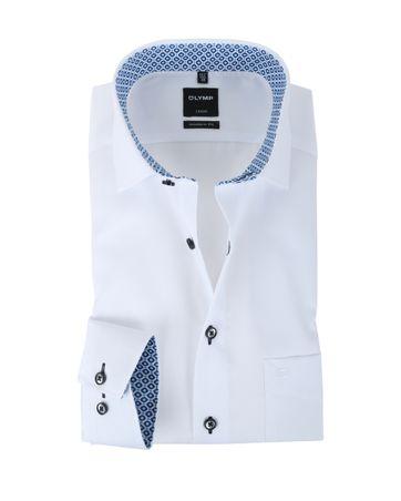 Olymp Strijkvrij Overhemd Modern Fit Wit