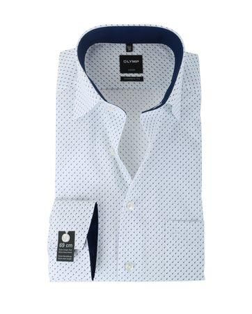 Olymp Strijkvrij Overhemd Modern Fit Wit Pinpoint SL7