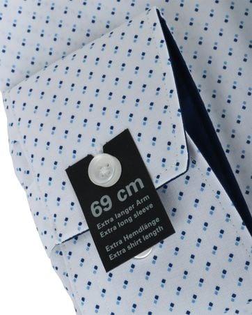 Detail Olymp Strijkvrij Overhemd Modern Fit Wit Pinpoint SL7