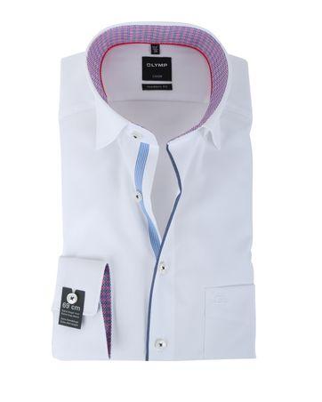 Olymp Strijkvrij Overhemd Modern Fit Wit SL7