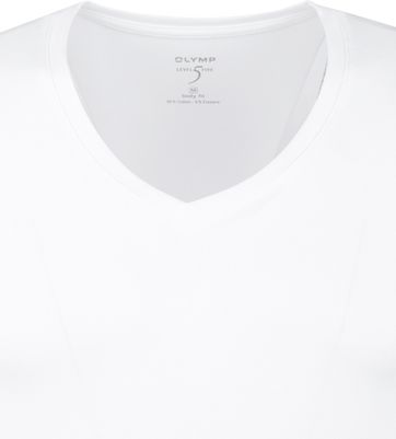 OLYMP T-Shirt Diepe V-Hals Stretch