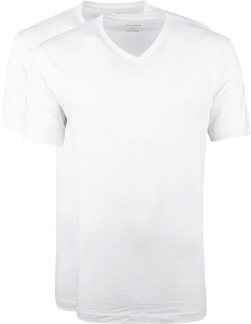 OLYMP T-Shirt Regular Fit V-Hals 2Pack