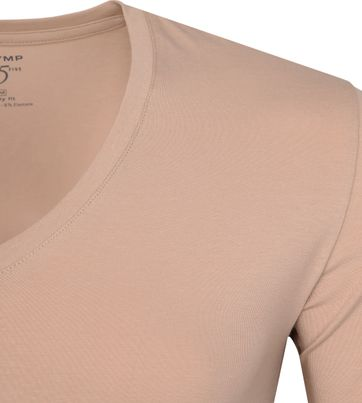 OLYMP T-Shirt V-Halsausschnitt Nude