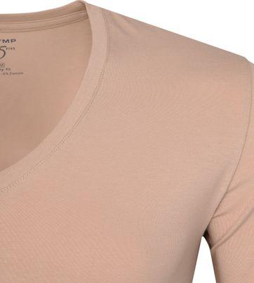 Olymp T-shirt V-Neck Nude