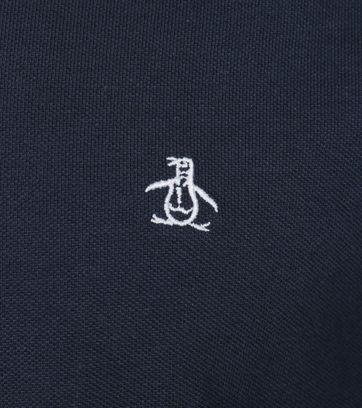 Detail Original Penguin Longsleeve Polo Navy