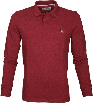 Original Penguin LS Polo Chunky Red