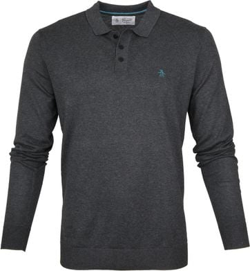 Original Penguin LS Polo Suprima Anthracite