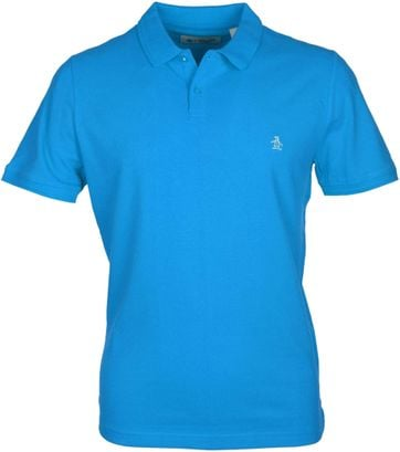Detail Original Penguin Polo Blauw