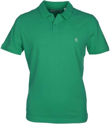 Detail Original Penguin Polo Groen
