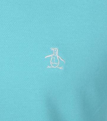 Detail Original Penguin Polo Lichtblauw