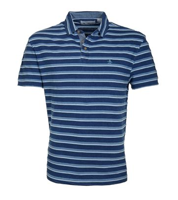 Original Penguin Poloshirt Blau Streifen