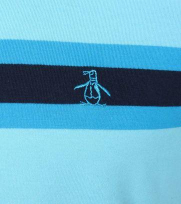 Detail Original Penguin Poloshirt Farbe Streifen