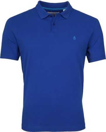 Original Penguin Poloshirt Raised Rib Blue
