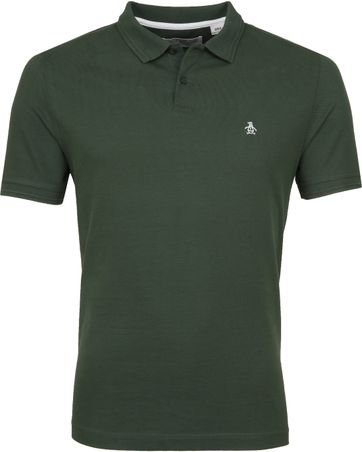 Original Penguin Poloshirt Raised Rib Green